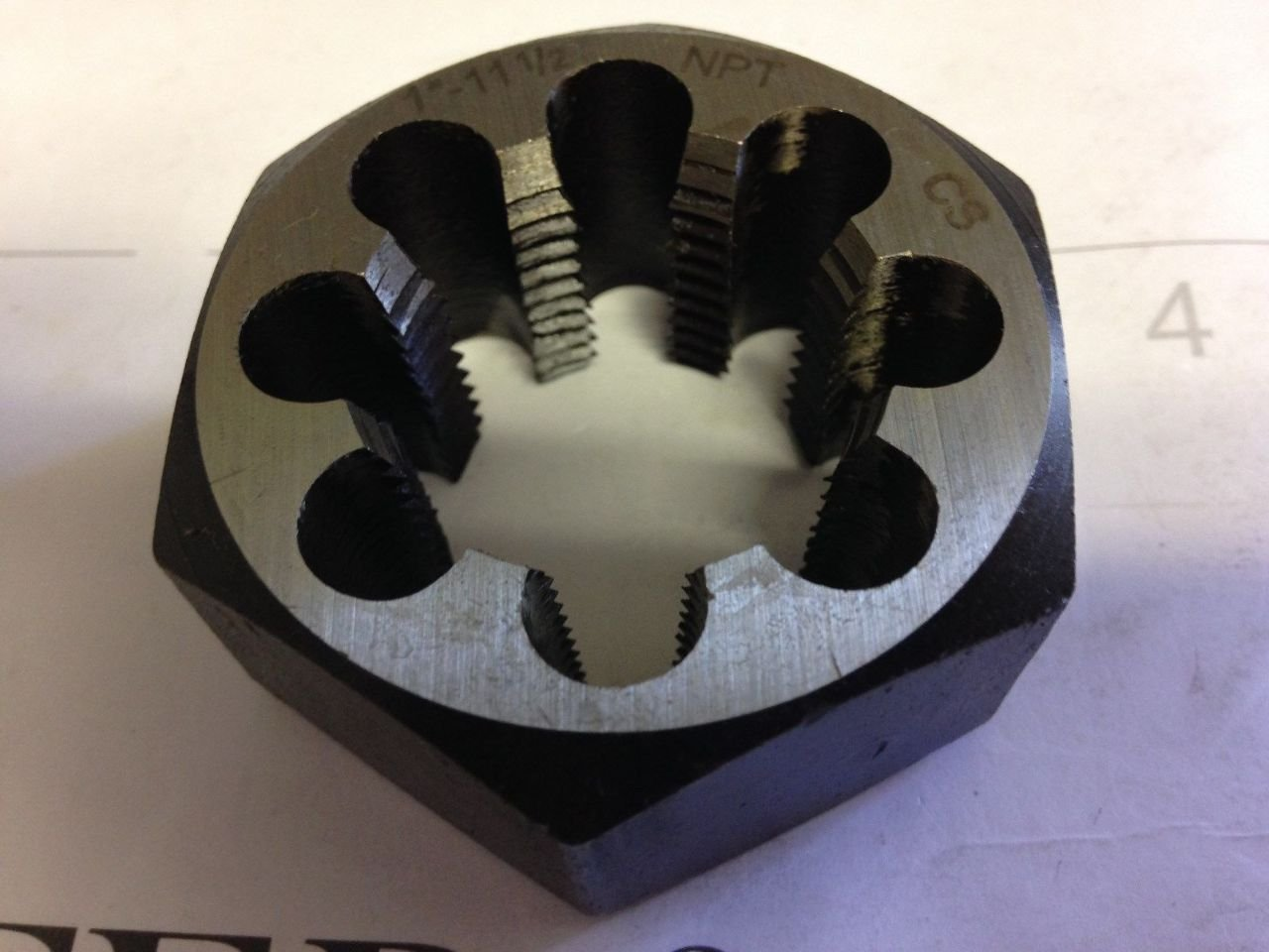 1'' NPT Pipe Carbon Hex Rethreading Die