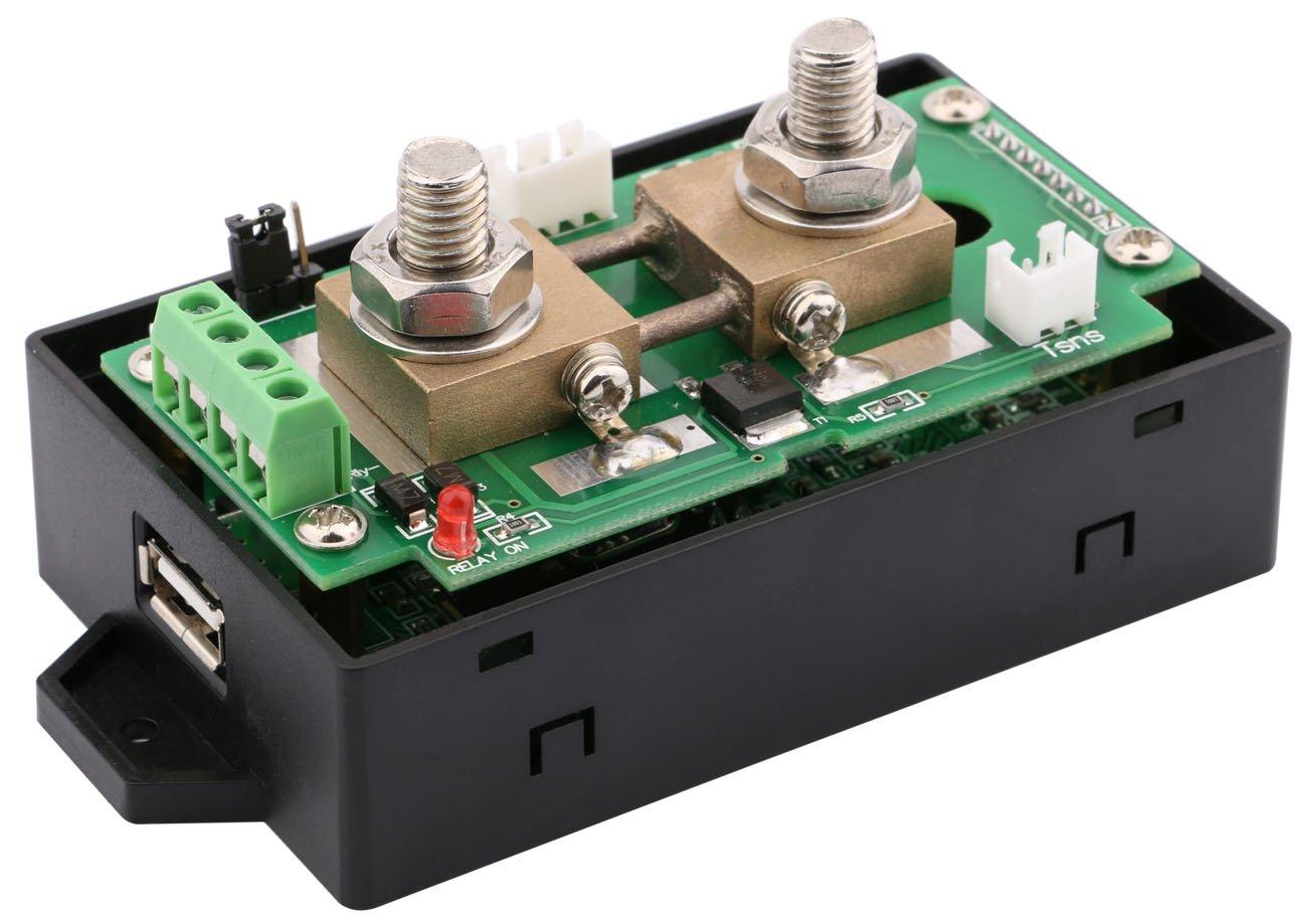 Yeeco Digital Dc Voltmeter Ammeter Multimeter 10 90v 0 200a Lcd Current Detection Sensor Overcurrent Circuit Protection Color Display