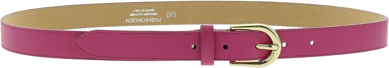 Cintura Donna 2,50 cm in vera pelle italiana con fibbia dorata HACENA fatto in ITALIA FASHIONGEN