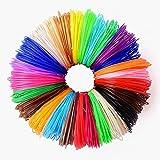 26 pc 3D Printer Pen Filament Refills | 1.75mm PLA Filament Refill (NOT ABS) | 520 Linear Feet | 26 Different Colors Pre-Selected, 2 BONUS Glow In The Dark Artist Pack | NONTOXIC | 20' Per Color