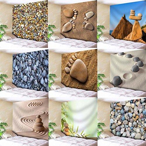 LLguz Fashion Multifunction Popular Cobblestone Beach Towel Tapestry Tablecloth Beach Towel Scarf Yoga Mat Towel Blanket (B) (Picnic Stone Table)