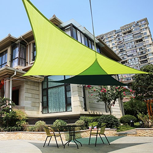 Lyshade 16 39 5 x 16 39 5 x 22 39 11 right triangle sun shade sail for Shade sail cost