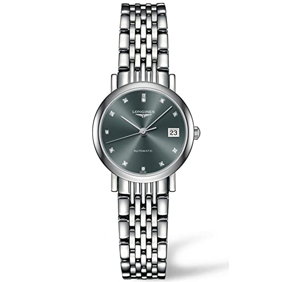 Longines Flagship de la mujer diamante 26 mm automático analógico reloj l4.309.4.78.6: Amazon.es: Relojes