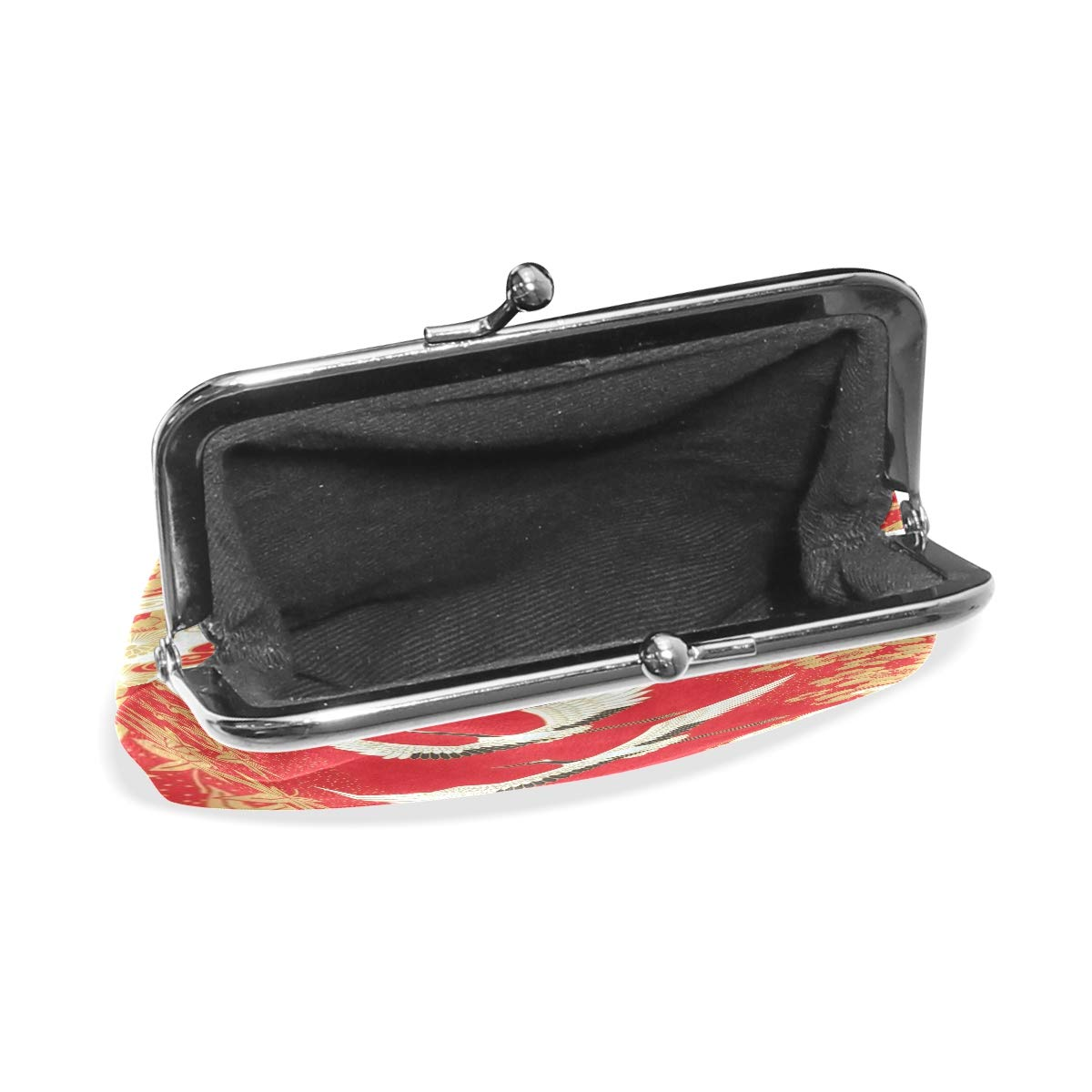 b56196a7249d Amazon.com: Coin Purse Japanese Style Crane Womens Wallet Clutch Bag ...