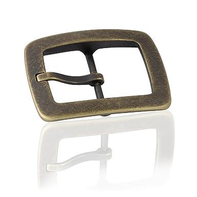 1ce9266c58e72c Frederic+Hermano Gürtelschnalle Buckle 40mm Metall Messing Antik - Buckle  Scratched - Dornschliesse Für Gürtel