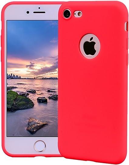 Funda iPhone 7, Carcasa iPhone 7 Silicona Gel, OUJD Mate Case Ultra Delgado TPU Goma Flexible Cover para iPhone 7 - Rojo: Amazon.es: Oficina y papelería