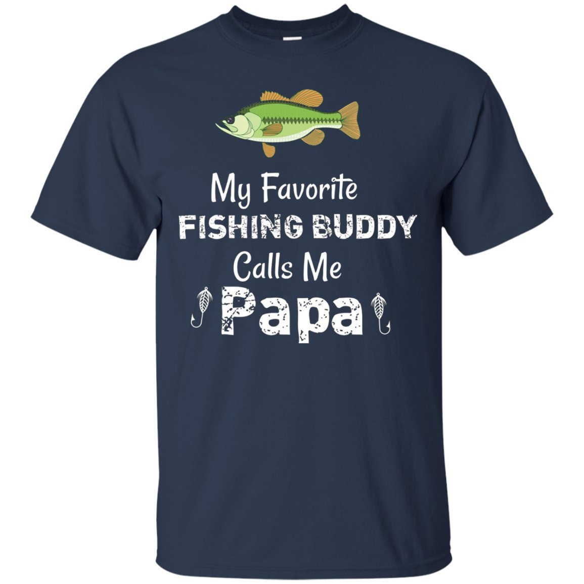 Awesome Fishing Buddy Papa Tshirt Navym