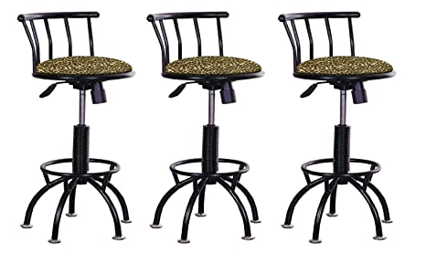 Admirable Amazon Com Set Of 3 Adjustable Height Stools 24 29 Machost Co Dining Chair Design Ideas Machostcouk