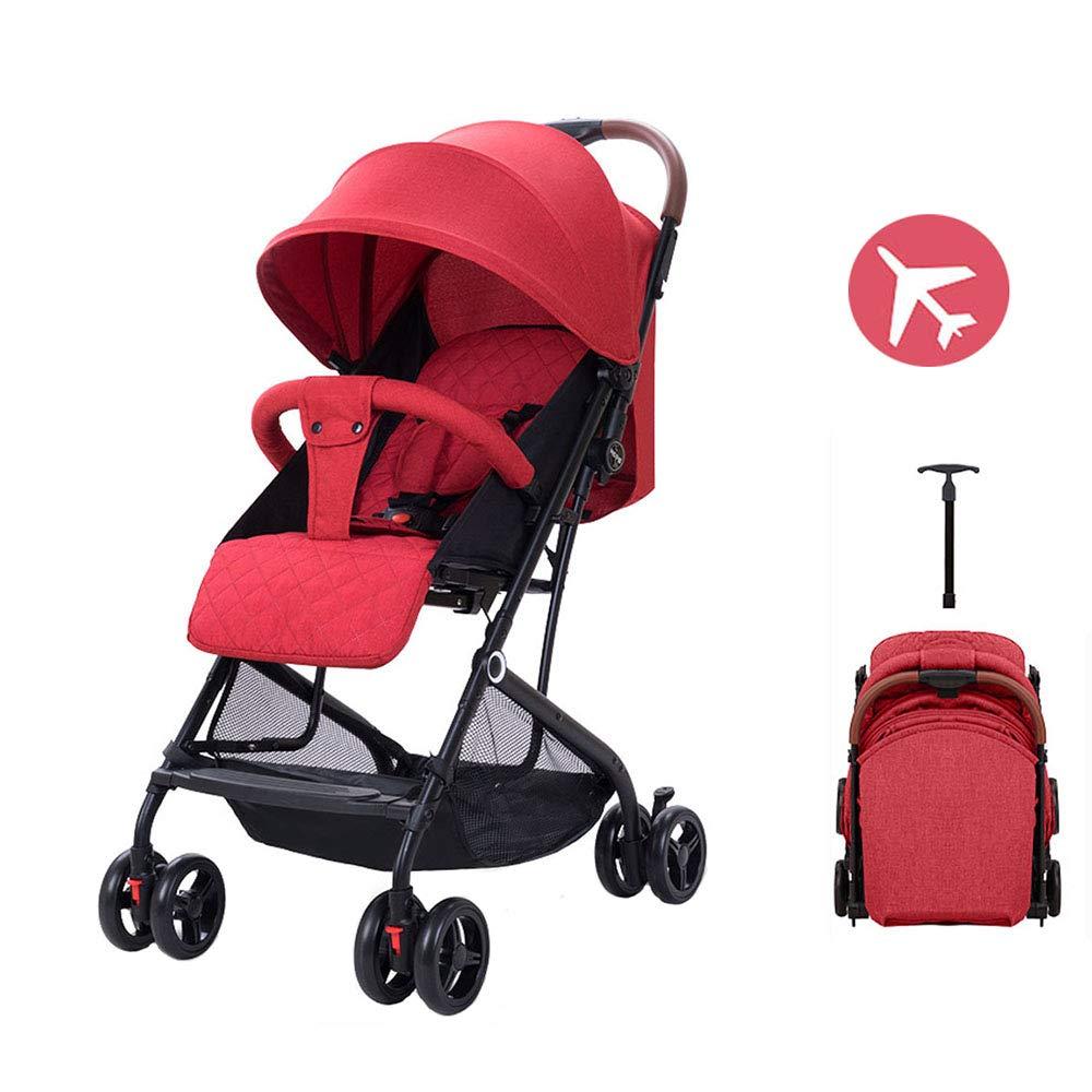 軽量双方向ベビーカープルロッドタイプコンパクトな折りたたみ車の傘は座ることができます飛行機の中で超軽量ポータブル横になることができますChidren Pram 0-36ヶ月の赤ちゃんに適して   B07SST41BT