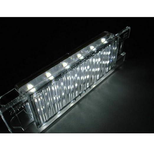 2pcs YUGUIYUN Auto Kennzeichenbeleuchtung Nummernschildbeleuchtung 18 LED Bright Wei/ß Lampen Leuchtmittel f/ür V-auxhall O-pel Corsa C D for Astra H for Insignia