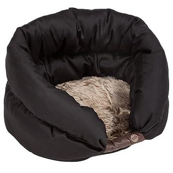 Mascota Perro Cachorro de perro gato Nest - Cama Suave Piel Sintética, 40 x 34 x 27 cm, color negro: Amazon.es: Productos para mascotas