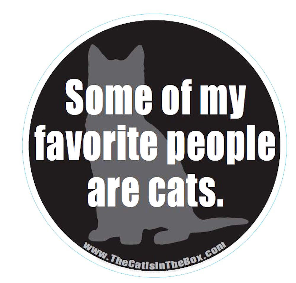 Some of My Favorite People are Cats Cat Car Magnet for Cat Lovers and Cat Moms and Dads