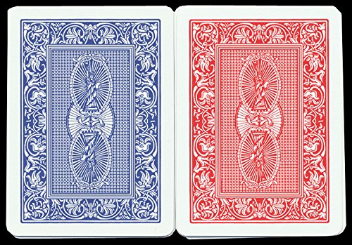 Dal Negro Treviso Plastic Red/Blue Playing Cards Poker Standard Index – 2 Deck Setup