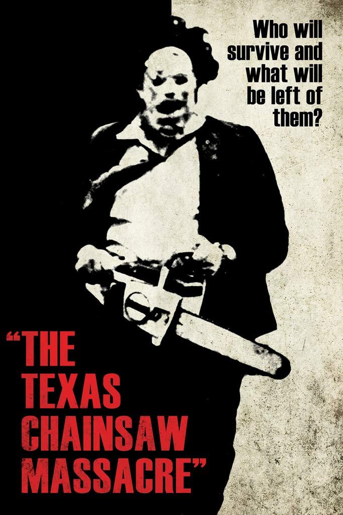 Studio B Texas Chainsaw Massacre Silhouette Movie Poster 24x36 inch