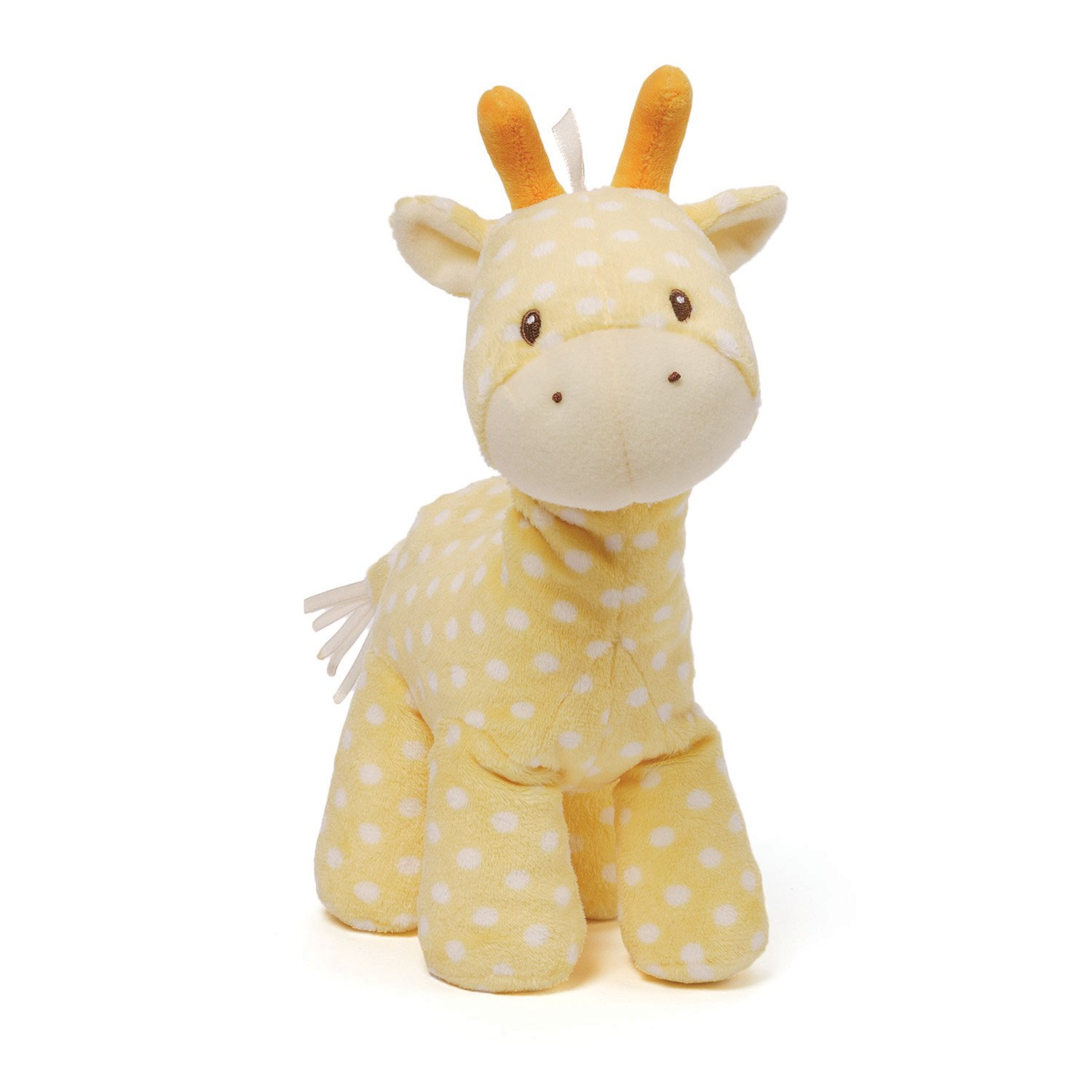 Gund Baby Lolly and Friends Stuffed Animal, Giraffe yellow giraffe plush features a fun polka dot pattern as well as satin accents for a touch of luxury appeal kids toy