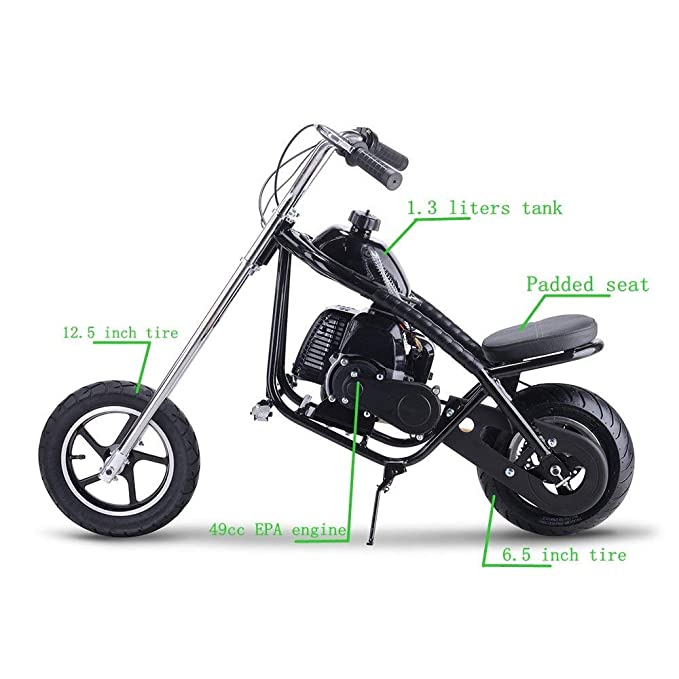 Amazon.com: SAY YEAH Mini Chopper de gas 49 cc 2 tiempos ...