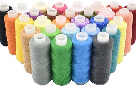 Hilo de coser 30 colores para máquina industrial y costura a mano ...