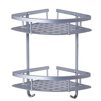 candora® Platz Aluminium Doppel-Dreieck Regal Badezimmer Ablagenetz ...