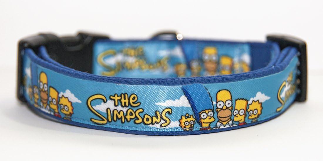 Los Simpson The Simpsons Collar Perro Hecho a Mano Talla L sin Correa Dog Collar Handmade