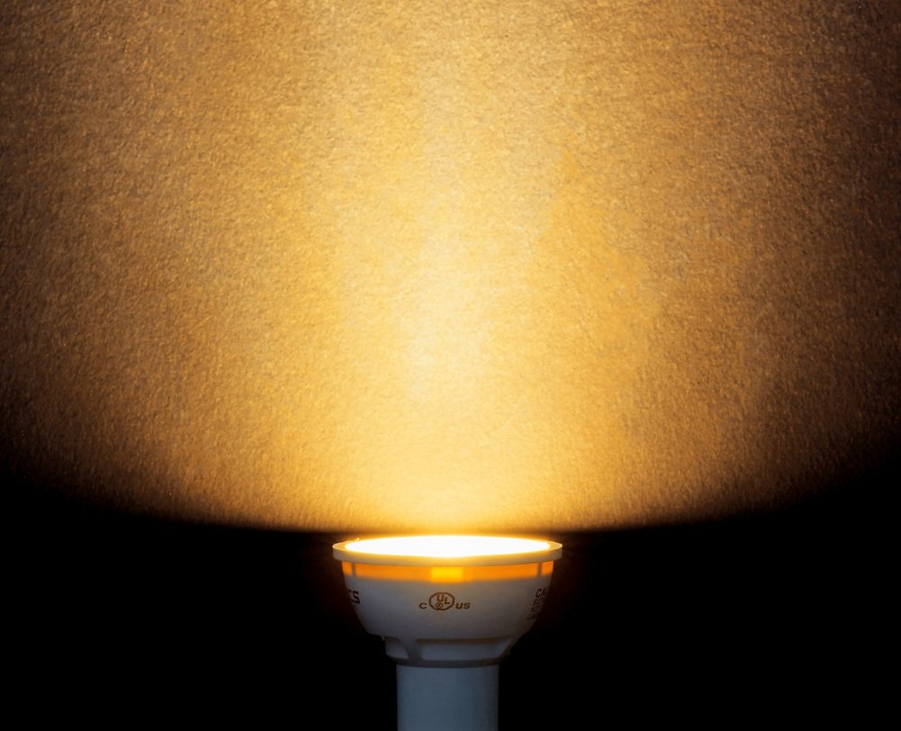 4000K 40/°Beam Angle,CRI83,120Volt,UL-Listed,12-Pack Genitronics Dimmable GU10 Led Bulb,Spot Light, 6.5W,500 Lumen,Daylight White 50W Equivalent