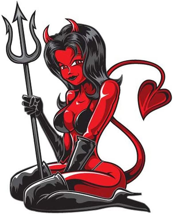 "6/"" x 8/"" Decal Devil Girl LT-90105-2"