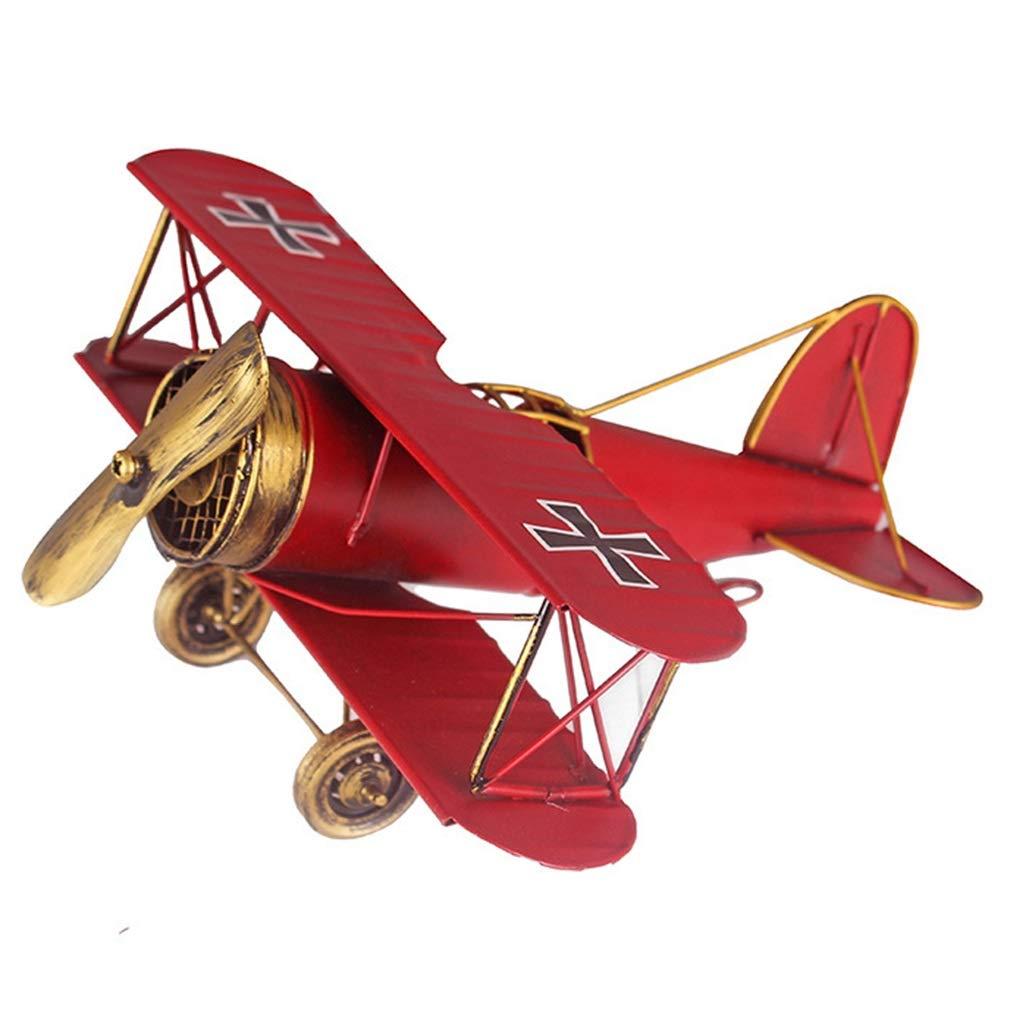 LIULAOHAN Albatros de Metal Modelo de ala Doble ala, Retro biplano ...