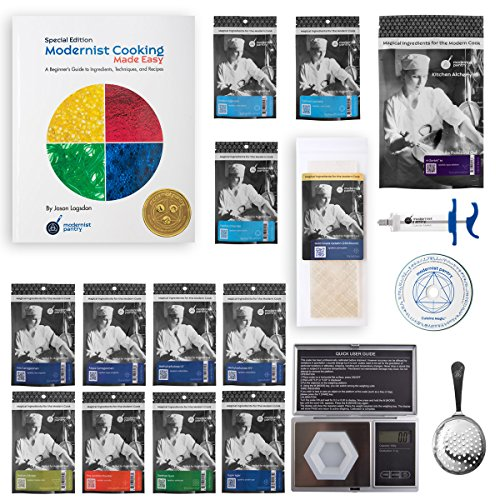 "Price comparison product image PREMIUM Molecular Gastronomy ""Made Easy"" Starter Kit Non-GMO Gluten-Free OU Kosher Certified Ingredients"