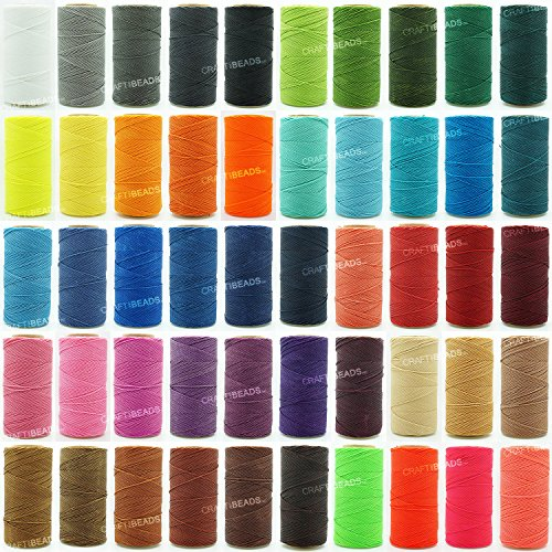 CHERRY BLACK 1mm Waxed Polyester Twisted Cord Macrame Bracelet Thread Artisan String (180yards Spool)
