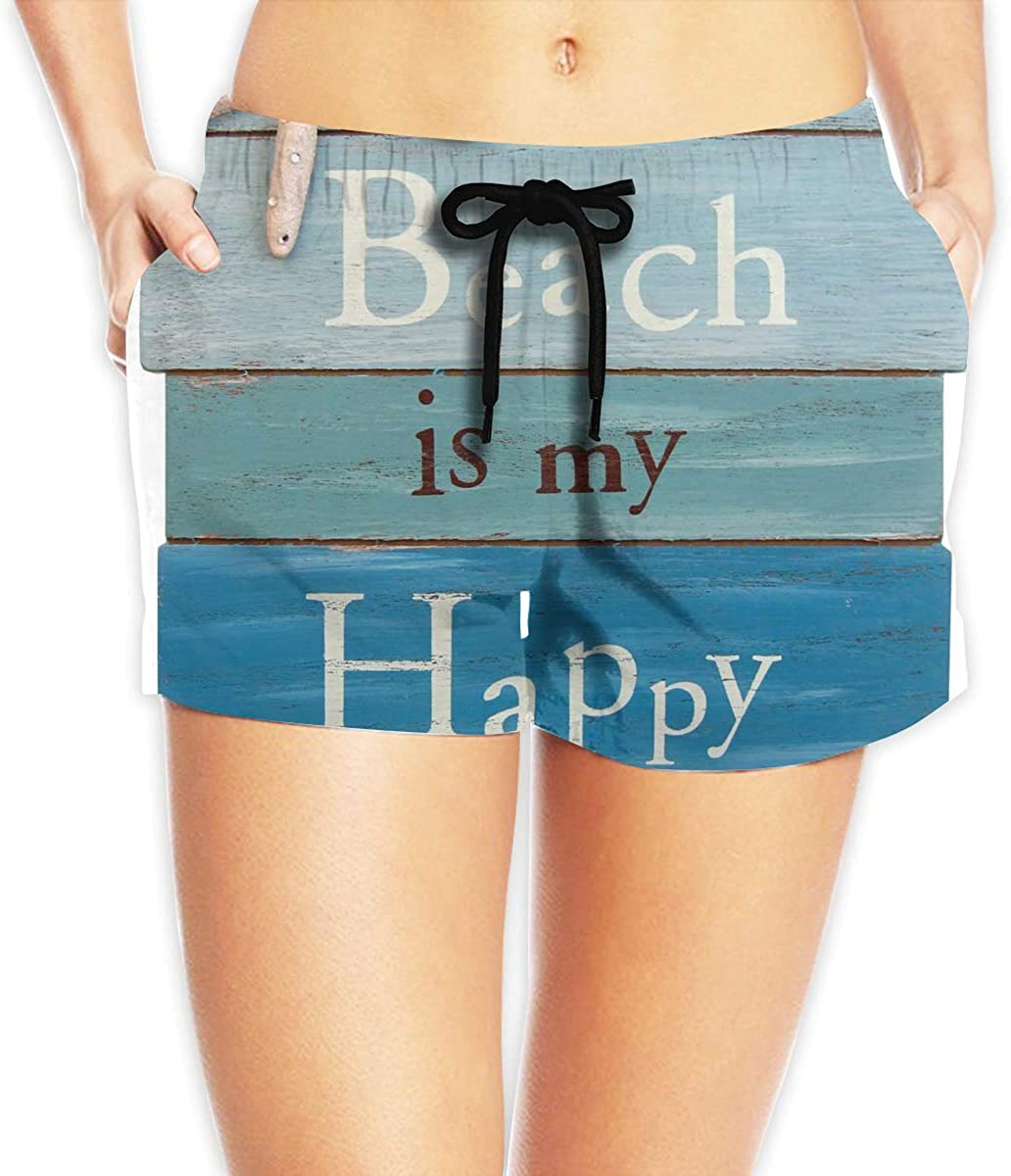 L6Nv4o@A Girls Short Sleeve Beach Themed Doormats Rugs-The Beach is My Happy Place Shirts Fashion Tunic Shirt Dress XS-XL