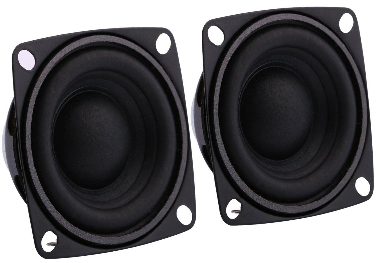 Yeeco 2Pcs 2 inch 8 Ohm Mini Hifi Stereo Audio Speakers, DIY Full Range  Speaker Loudspeaker