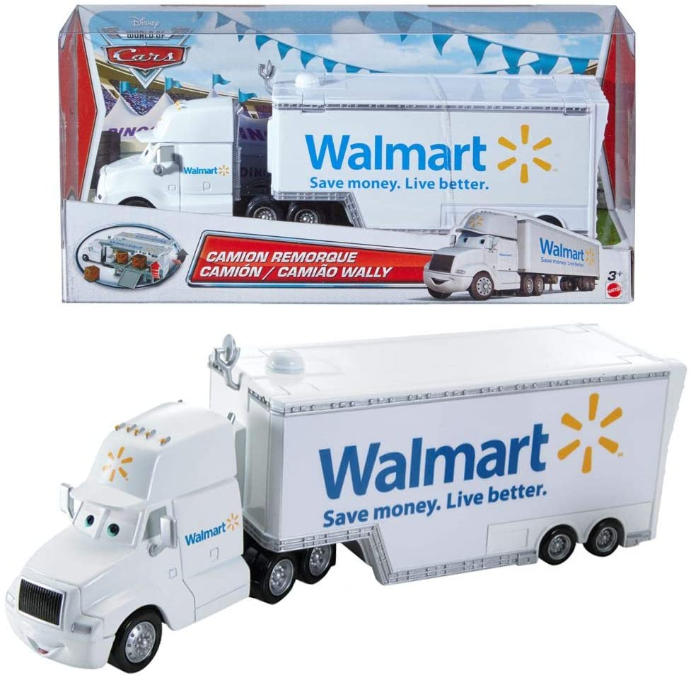 Disney Cars Camión - Walmat Camión - Wally Hauler - Zona de carga para Abierto