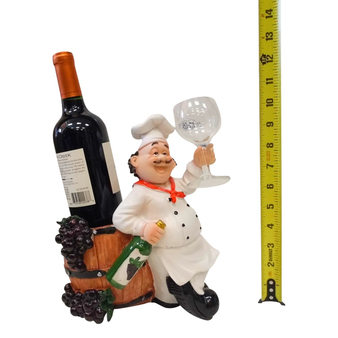 awesome Chef Wine Holder Statue Part - 3: Amazon.com