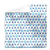 Snowflakes Dance On Dots Flat Sheet: Twin Luxury Microfiber, Soft, Breathable