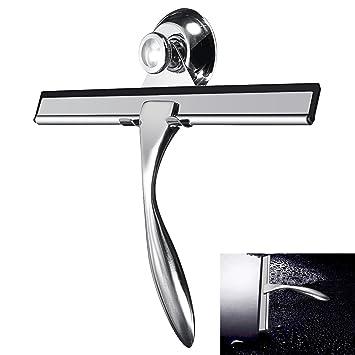 ... Inoxidable Escobilla de Goma para la Ducha de Limpieza Limpiador de Cristal Ventana Espejo Baño limpiaparabrisas: Amazon.es: Bricolaje y herramientas