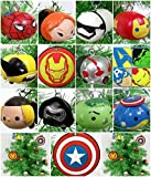 Super Hero Avengers Team Tsum Tsum 13 Piece Christmas Tree Ornaments Set Featuring Various Super Hero Characters