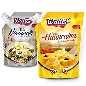 Walibi eJoyStore Huancaina & Salsa Vinagreta - Try it on Us! You will be hooked The Taste of FULL TANGY FLAVOR OF HERBS spices, Peppers and OIL in a Pack