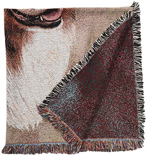 Pure Country 1183-LS Australia Shep Pet Blanket, Canine on Beige Background, 54 by 54-Inch Australia Blanket