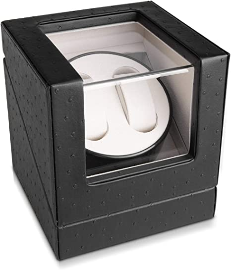 Navaris Caja giratoria para Relojes - Estuche Giratorio - Vitrina de Movimiento para 2 Relojes de 20x18x18CM con 4 Modos: Amazon.es: Relojes