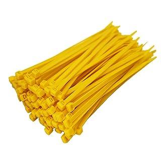 Aikesi Cable Ties (100 Paquete) Nylon Abrazadera de Cables Atadura de Cables Ajustable Cable Tie Abrazaderas de Cables 150mm x 3mm (Verde)
