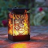 Walensee Solar Lantern Lights Dancing Flame Waterproof Outdoor Hanging Lantern Solar Powered Umbrella LED Night Lights…