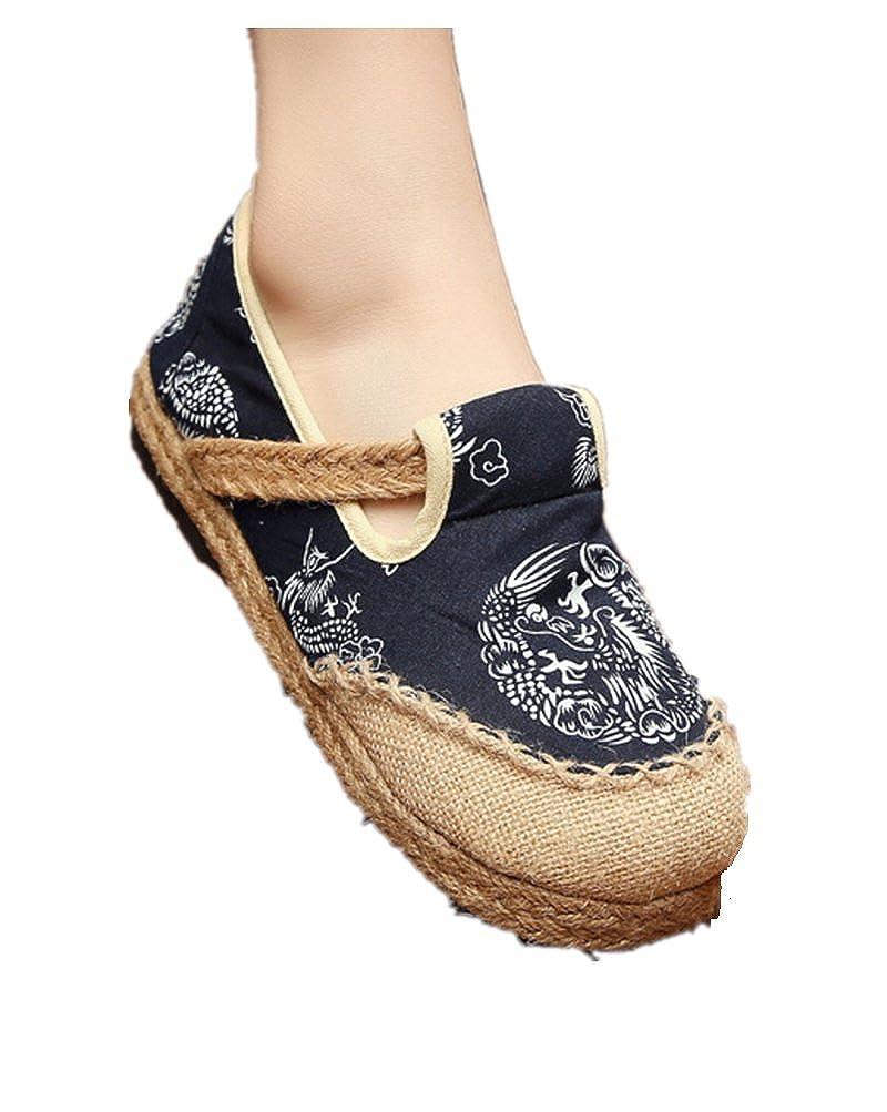 Tianrui Crown Women Handmade Espadrilles Shoe Slip-on Loafer Sandal Flat Shoe 20170226/02