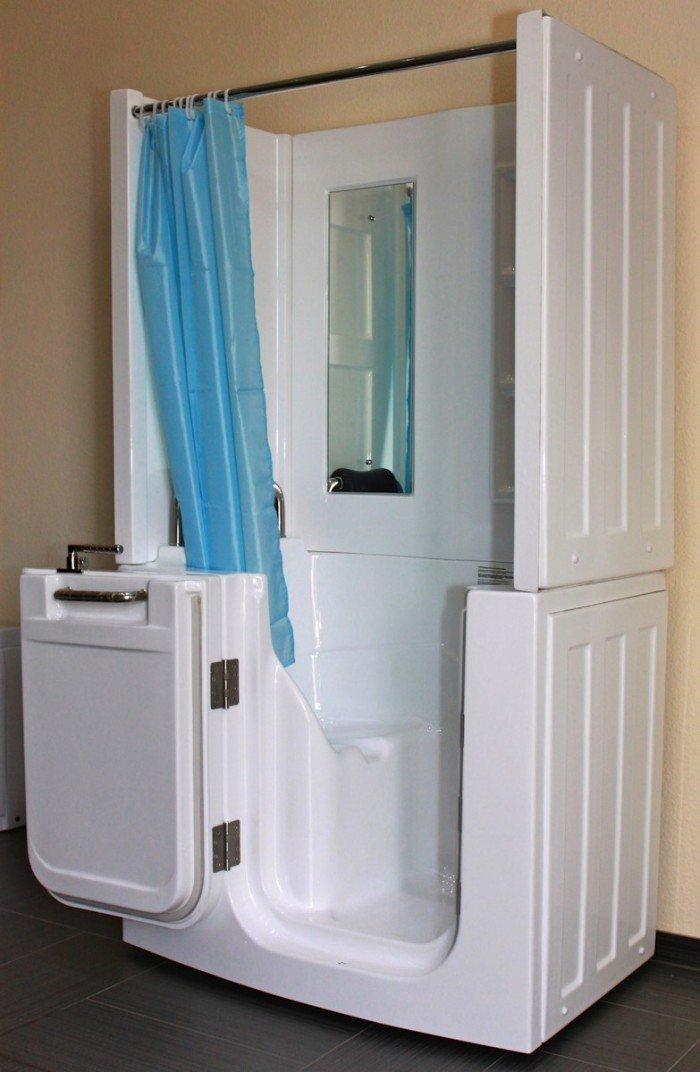 Senioren Dusche Sitzbadewanne Sitzwanne Duschbadewanne mit Tür ... | {Duschbadewanne mit tür 15}