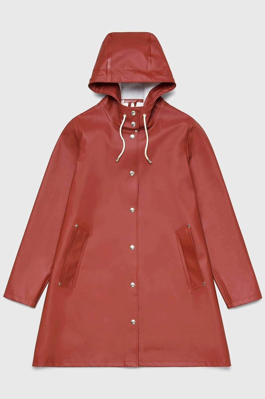 (ストゥッテルハイム) STUTTERHEIM Women`s MOSEBACKE Waterproof hooded Raincoat レディース防水フード付きレインコート(並行輸入品) B07GTZB54S Barn Red M