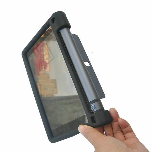 MingShore for Lenovo Yoga Tab 3 8 Inch Tablet Case Model YT3-850M YT3-850F YT3-850L Yoga 3 HD 8 Silicone Rugged Case Black