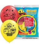 "Pioneer National Latex Pac Man 12"" Latex Balloons, 6 Count"