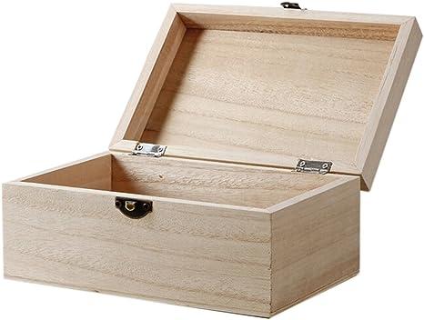 Kentop - Caja de madera con tapa, universal: Amazon.es: Bricolaje y herramientas