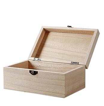 gespout cajas de almacenamiento cajas de Rectangular de madera para maquillaje joyería recuerdo Notebook: Amazon.es: Hogar