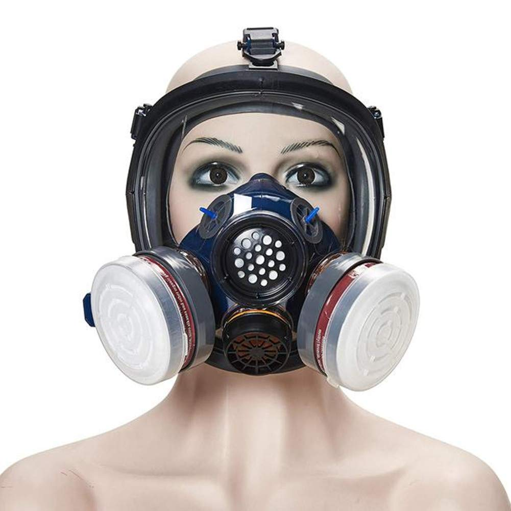 Organic Vapor Respirator, Activated Carbon Respirator Paint Respirator Gas Chemical Dustproof Pesticides Mask,Respiratory Protection