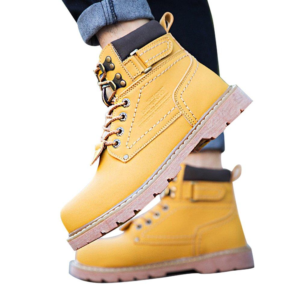 ENLEN&BENNA Women\Men's Work Toe Boots Safety Boots Composite Toe Work Cap Waterproof Tan Casual Motorcycle Boot Lightweight B07F7LDL4R 6 B(M) US|Yellow-fur 0d22c0