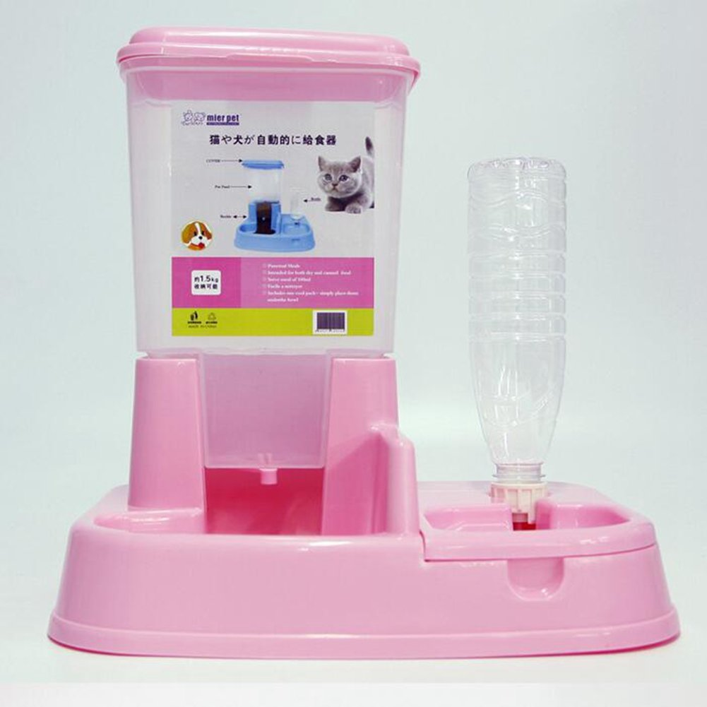 WW Automatic Gravity Feeder Pet Waterer Easy To Add Dog Bowl Cat Pot Combination Bowl Pet Water Station by CW&T (Image #5)